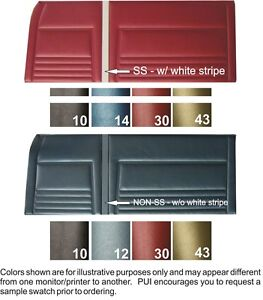 67 Chevy Ii Nova Non ss Front Rear Coupe Door Panels No White Stripe Pui