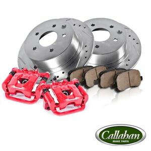 Front Brake Rotors And Calipers Ceramic Pads Honda Civc Coupe Sedan Hatchback