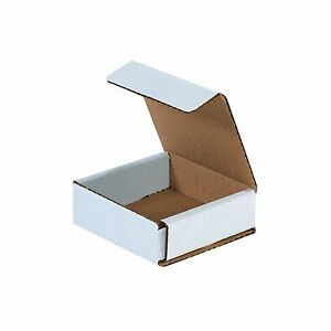 50 3x3x1 Small White Corrugated Cardboard Packaging Shipping Mailing Box Boxes
