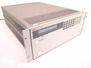 Hp 6050a System Dc Electronic Load W 60503b 60501b Modules