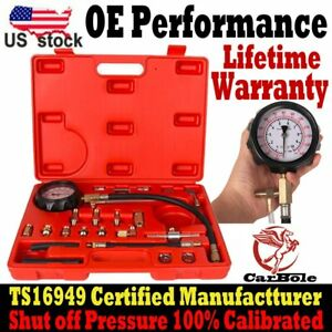 Car 0 140 Psi 0 10 Bar Fuel Injection Pump Injector Tester Test Pressure Gauge