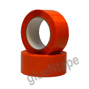 Orange Acrylic Carton Sealing Packing Tape 2 X 110 Yards 12 Rolls