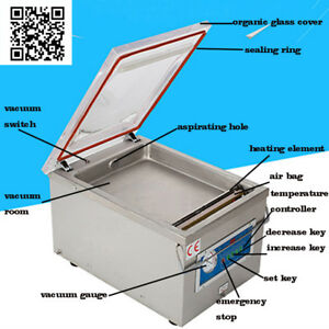 Commercial Vacuum Sealer Food Sealing Kitchen Storage Packaging Machine 110v
