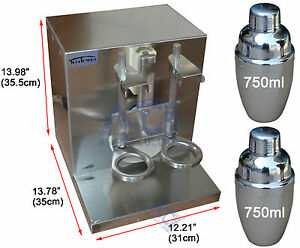 Double cup Bubble Milk Tea Shaker All Stainless Steel Auto Shaking Machine
