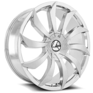 32 Inch Chrome Azara 507 Rims Wheels 22 24 26 28 30
