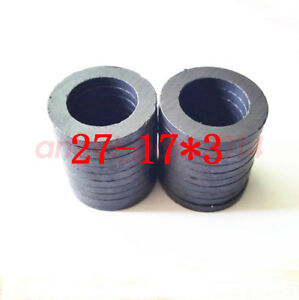 Lots 27mmx3mm Hole 17mm Black Strong Round Disc Magnet Ferrite Y30bh Magnets