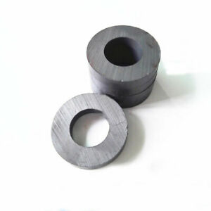 Lots 35mmx6mm Hole 28mm Black Strong Round Disc Magnet Ferrite Y30bh Magnets