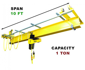 R m Qlp 1 Ton 10 Span Under Running Single Girder Overhead Push Crane Kit