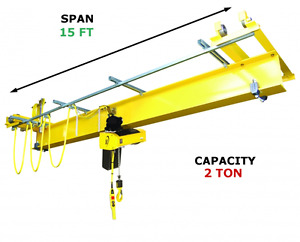 R m Qlp 2 Ton 15 Span Under Running Single Girder Overhead Push Crane Kit