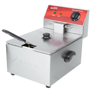 Avantco Commercial Electric Deep Fryer Countertop Restaurant Doughnut Basket