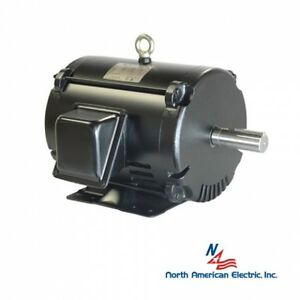 1 5 Hp Electric Motor 143t 3 Phase 3510 Rpm Odp Replacement For Baldor Leeson