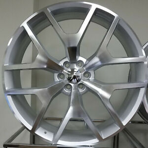 28 Inch Black Machine Borghini B28 Rims Wheels 22 24 26