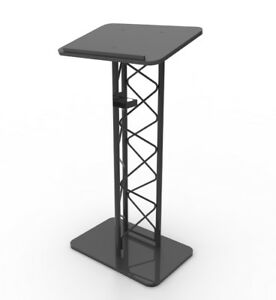 Truss Podium Metal Pulpit Church Podium Conference Pulpit Event Lectern Cup Hold