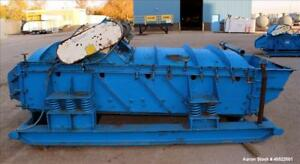 Used Smico Rectangular Vibratory Screener Carbon Steel Approximately 60 Wide
