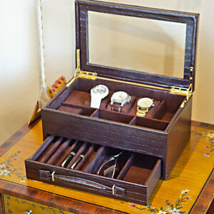 Personalized Multipurpose Display Case For Jewelry Watches Pens And Glasses