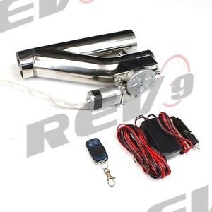Rev9 V2 Universal 3 Exhaust Catback Electric Cutout Kit W Remote Racing 76mm