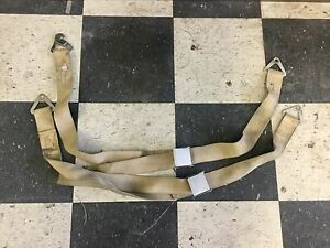 Vintage 1960 S Cessna Aircraft Friction Seat Belts Perfect 4 1932 Ford Hot Rods