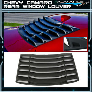Fits 16 17 Chevy Camaro Ikon Rear Window Louver Cover Abs