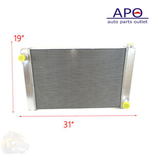 New Racing Radiator Fits Chevy Gm Style Universal 31 X 19 X3 Full Aluminum