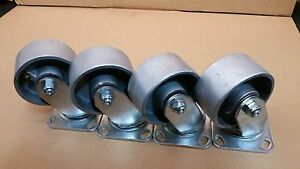 4 X 2 Heavy Duty Semi Steel Wheel Caster Set Of 4 700 Lbs ea capacity