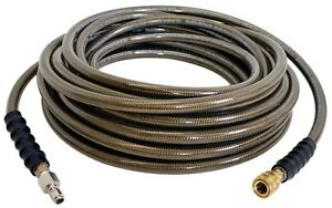 100 Ft Pressure Washer Hose 4500 Psi Cold Water Heavy Duty Durable Flexible New