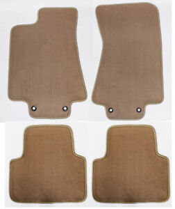 New Tan Floor Mats 2003 2008 Jaguar S Type Set Of 4 With Heel Pad Rubber Back