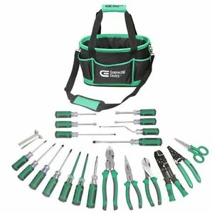 Electrician Tool Set 22 Piece Professional Home Hand Tool Kit Heavy Duty Bag