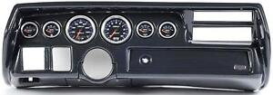 70 72 Chevelle Sweep Carbon Dash Carrier W Auto Meter Cobalt Gauge Gauges