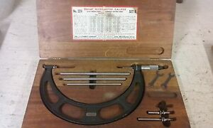 Starret Model 224 Set B 6 8 Micrometer Caliper