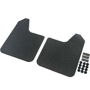 2 Mud Flaps Universal Splash Guards Fits Many For Front Rear Includes Hardware