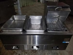 Crown Verity Inc 3 Well Electric Steam Table Model Cv3whs