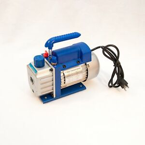 3cfm Rotary Vane Vacuum Pump Single Stage Hvac 1 4hp Air Conditioning A c Deep