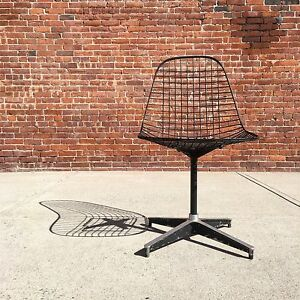 Herman Miller Eames Pkc Wire Chair Mid Century