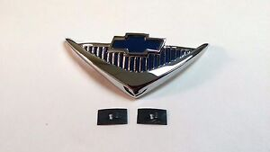 1955 1956 Chevy 210 Steering Wheel Horn Cap Emblem Chrome Made In The Usa