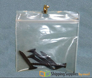 6 X 9 Clear With Hang Hole 2 Mil Zipper Plastic Reclosable Bag 8000 Bags