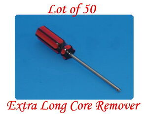 Lot Of 50 Extra Long Valve Stem Core Remover Tire Repair Tool Red