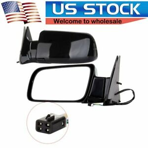 Power Side View Door Mirrors For 88 98 C K 1500 Tahoe Yukon Pickup Pair Set