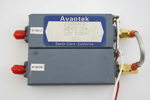 Avantek Rf Microwave Power Amplifier 12 18ghz 10dbm 45db Gain Tested