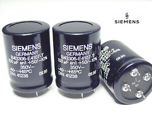 100uf 350v Siemens B43306 Hi end Audio Grade Electrolytic Caps X 100 Pieces