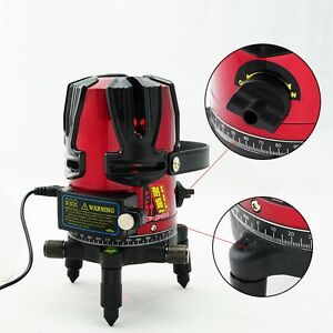 Rotary Laser Beam Self Leveling Interior Exterior Laser Level Kit With Tripod