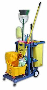 Janitor Cart Blue