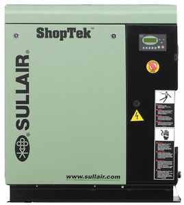 Sullair Shoptek Lubricated Rotary Screw Air Compressor 5 Hp St410