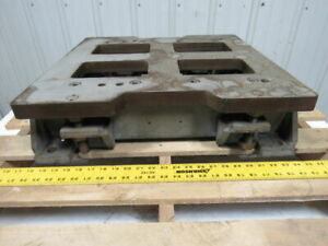 T a d Machine Tool Vr 404 405 Compound Die Table 23 X 22 Top 1 3 16 Thick