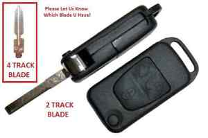 Brand New Mercedes Three Buttons Two Track Flip Key Case For C E S Sl Class