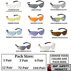Pyramex Ztek Safety Glasses Ansi Z87 Compliant Variety Packs And Colors
