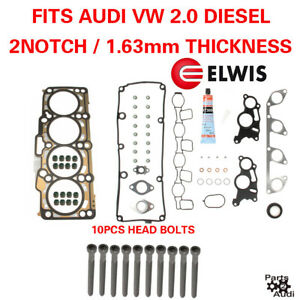 Oe Cylinder Head Gasket Set With Bolts Vw Diesel 2 0 2 Notch