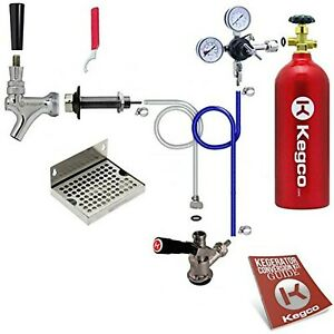 Kegco Bf Ebdck 5t Deluxe Door Mount Kegerator Beer Conversion Kit With 5 Lb Co2