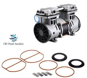 3 cfm Rebuilt Vacuum Pump 23 hg Compressor veneer aerate With Rebuild Kit