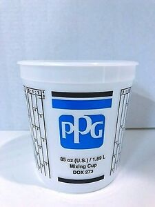 Ppg Dox 273 2 5 Quart 85 Ounce Auto Car Paint Mixing Cup Without Lid box Of 50