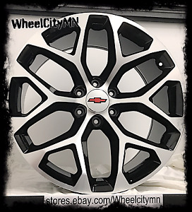 20 X9 Gloss Black 2014 Chevrolet Tahoe Ltz Oe Replica Snowflake Wheels 6x5 5